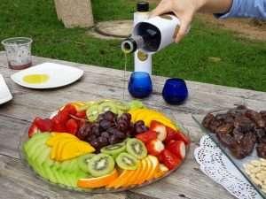 פירות עם שמן זית